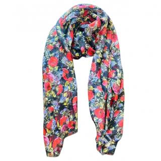 Dolce & Gabbana Floral Silk Floral Print Scarf