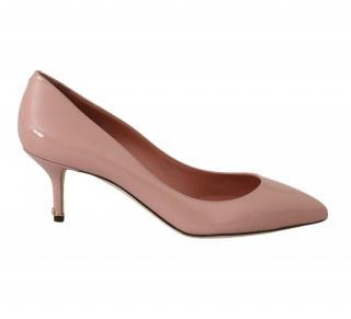 Dolce & Gabbana Pale Pink Patent Pumps