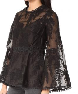 Zimmermann black lace blouse
