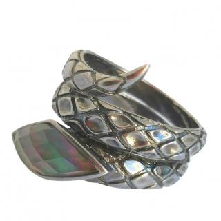Stephen Webster Coiled Crystal Snake Ring