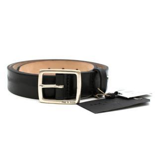 Rag & Bone Leather Black Boyfriend Belt