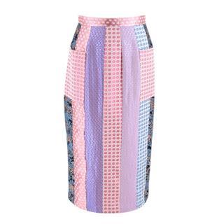 Natasha Zinko Patchwork High Waist Midi Skirt