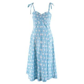 Miguelina Blue Broiderie Anglaise Summer Strap Dress