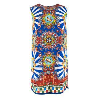 Dolce & Gabbana Sleeveless Majolica Print Tunic Top