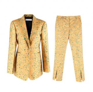 Victoria Beckham Gold Brocade Floral Blazer