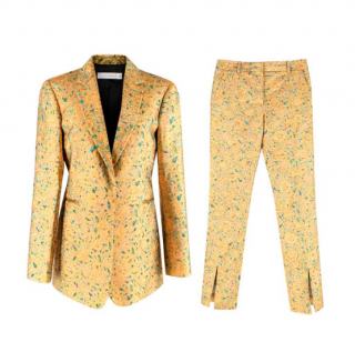 Victoria Beckham Gold Brocade Floral Suit Set