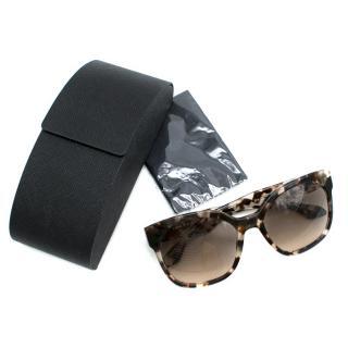 Prada Tortoiseshell squared sunglasses