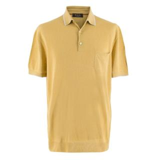 Loro Piana Gold Silk & Linen Polo Shirt