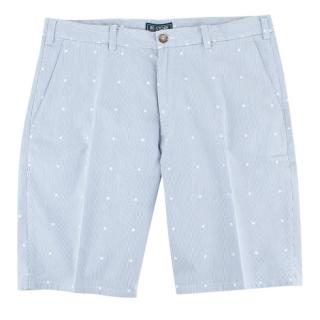 Be-Store Blue and White Stripe Bermuda shorts