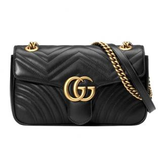 Gucci Black Small Matelasse Shoulder Bag