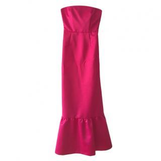Max Mara Pink Strapless Duchesse Gown