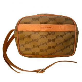 Balenciaga Tan Monogram Crossbody Bag