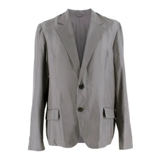 Lanvin Grey Lightweight Single Breasted Blazer