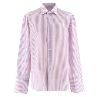 """RRP £150 Paul Smith Gents Formal Tailored Shirt in Pink Stripe Sizes 15/"""" 17/"""""""