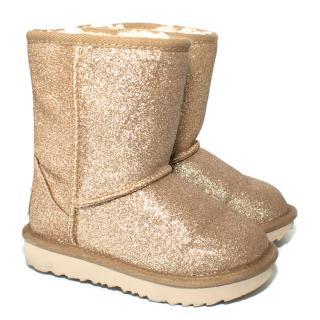 Ugg Australia Kids Gold Glitter Ugg Boots