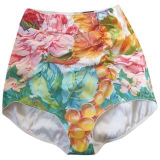 Dolce & Gabbana Tropical Print High Waist Bikini Briefs