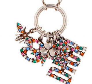 Dior Multi-Coloured Crystal Charm Necklace