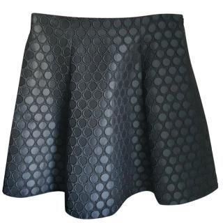 Lisa Perry Embroidered Spotted Mini Skirt
