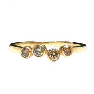 Bespoke Yellow Gold Diamond Bubble Ring
