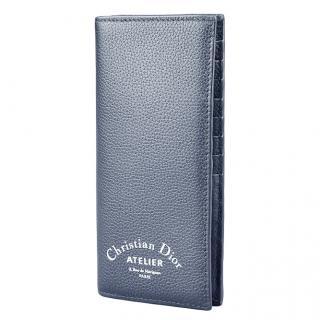 Dior Blue Atelier Long Card Holder
