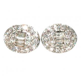Cred Bespoke Diamond Halo Earrings