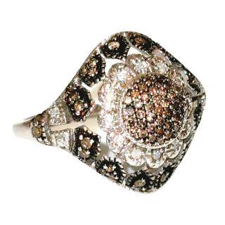 Bespoke Vintage Diamond Cluster Ring