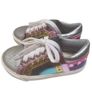 Sophia Webster Girl's Glitter Metallic Sneakers