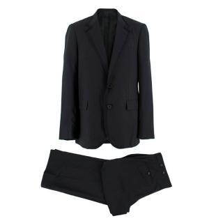 Lanvin Black Pinstripe Single Breasted Suit