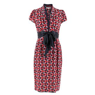Suzannah Pink Spotted Silk Dress