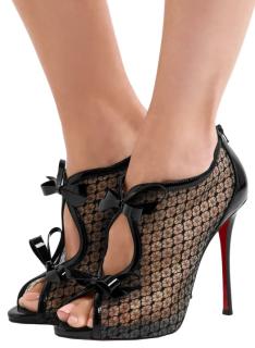 Christian Louboutin Empiralta 120 bow-embellished mesh sandals