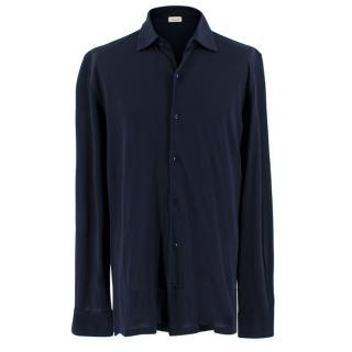 Doriani Navy Button Down Polo Shirt