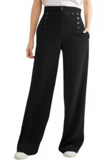 Joseph Portland lace-up button-detailed crepe wide-leg pants