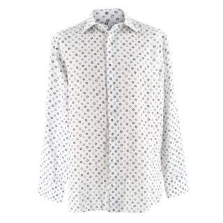 Donato Liguori White Floral Print Shirt