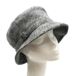 Philip Treacy Grey Wool Blend Bucket Hat