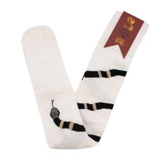 Dilara Findikoglu Knee High Snake Print Socks
