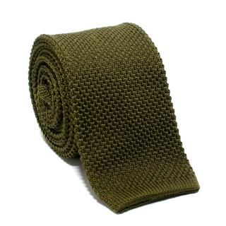 Hardy Amies Green Knitted Silk Square Tie
