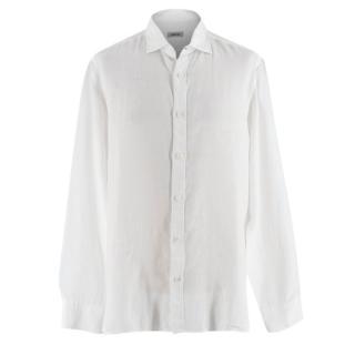 Z Zegna White Linen Shirt