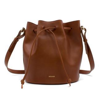 Sezane Farrow Brown Bucket Bag
