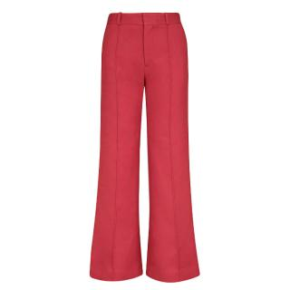 See by Chloe High-rise flared cotton-blend trousers