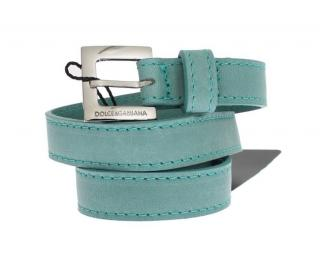 Dolce & Gabbana Turquoise Leather Belt