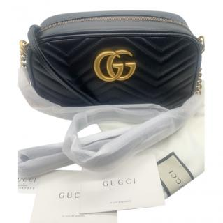 Gucci Black Matelasse Camera Bag