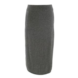 Charlie May Grey Knit Midi Skirt