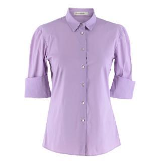 Jil Sander Lilac Three Quarter Sleeve Shirt