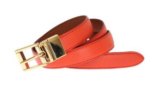 Dolce & Gabbana Orange Leather Waist Belt