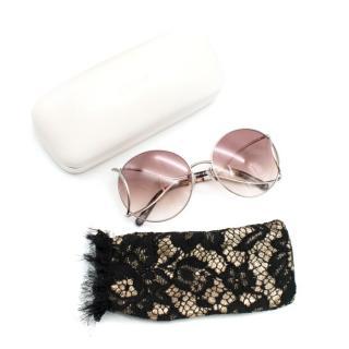 Chloe Ombre Round Sunglasses