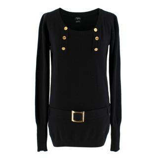 Chanel black belted cashmere Jumper