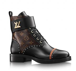 Louis Vuitton Monogram Studded Boyish Ranger Ankle Boots
