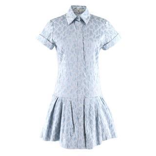 Natasha Zinko Light Blue Jaquard Animal Print Dress