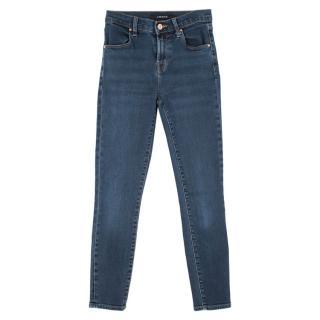 J Brand mid-dark wash high waist skinny jeans
