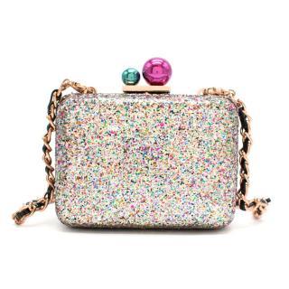 Sophia Webster Azealia Multi-Coloured Glitter Clutch